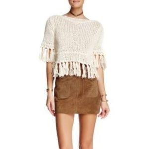 Free People Suede Modern Love Skirt